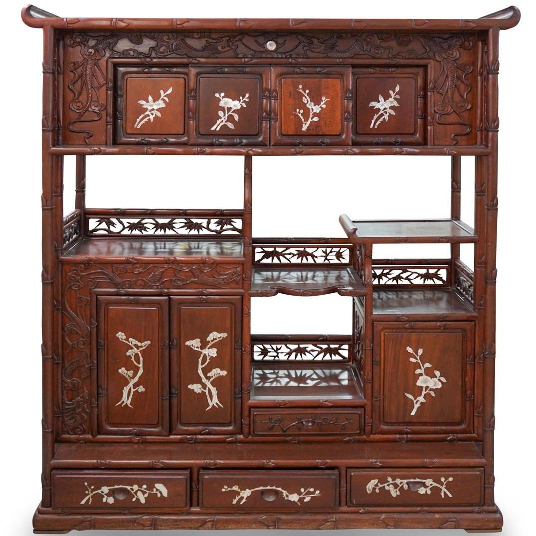Chinese Mother of Pearl Inlaid Cabinet