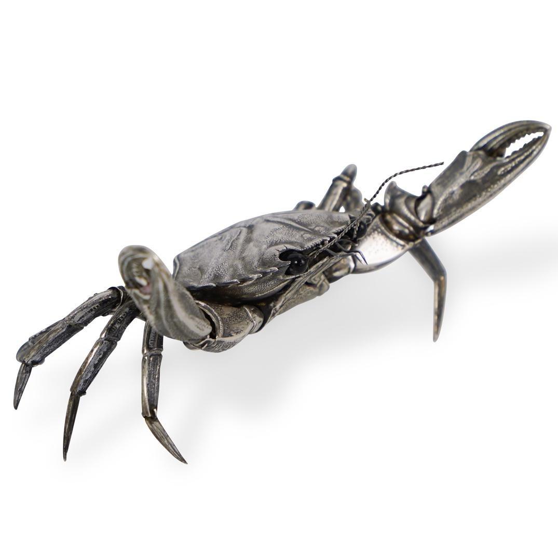 Spanish Sterling Mechanical Crab