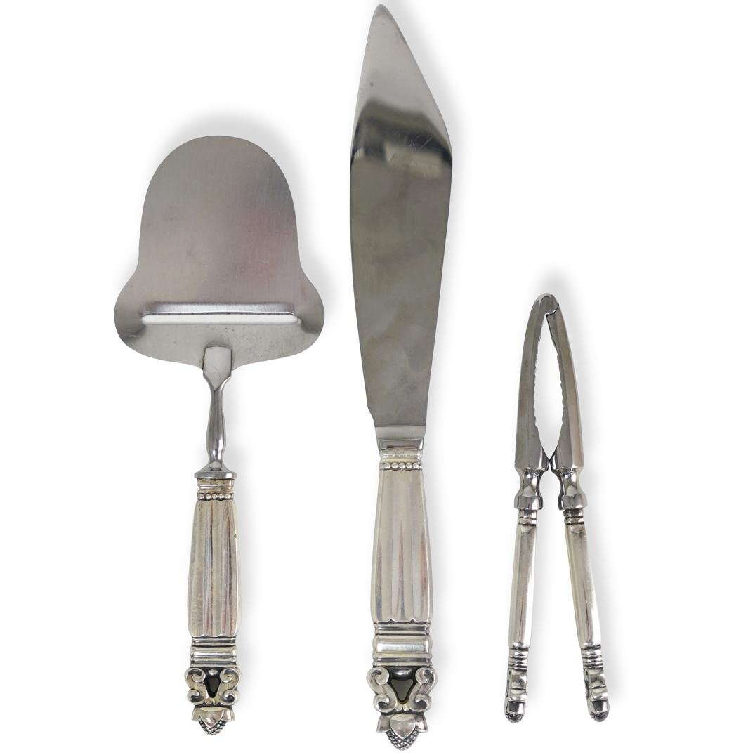 (3 Pc) Georg Jensen Sterling Silver Flatware