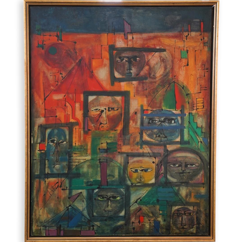 Clara Ledesma (Dominican, 1924-1999) Oil Painting