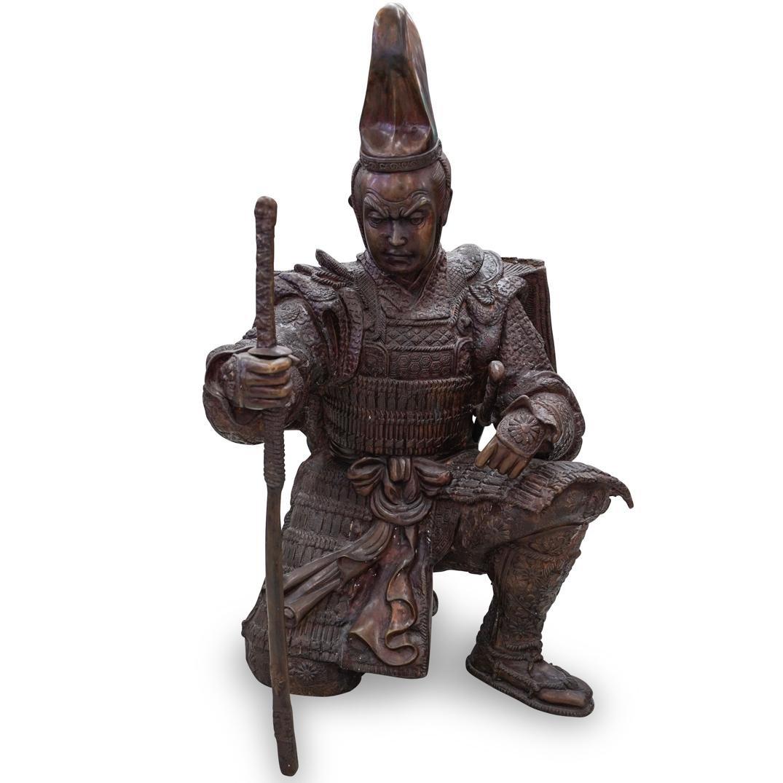Meiji Japanese Bronze Samurai Warrior