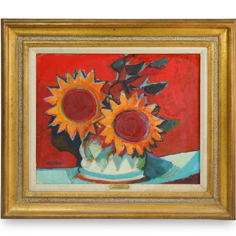 David Pryor Adickes (Amerian, b. 1927) Acrylic Painting