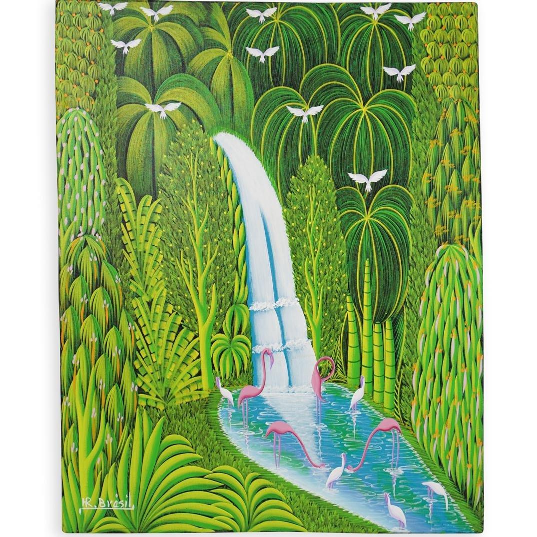Henri Robert Bresil (Haiti, 1952-1999) Oil Painting