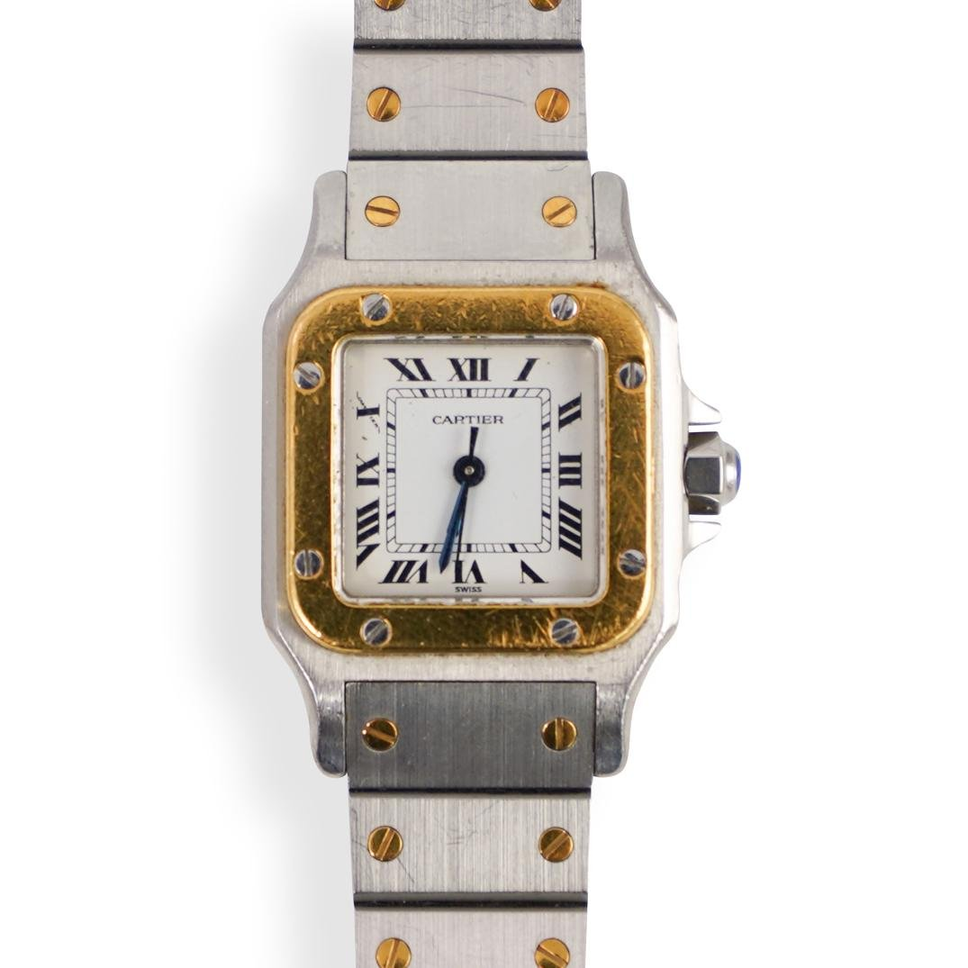 Cartier Santos Stainless Steel and 18k Watch