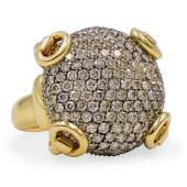 Gucci 18k Gold and Diamond Ring
