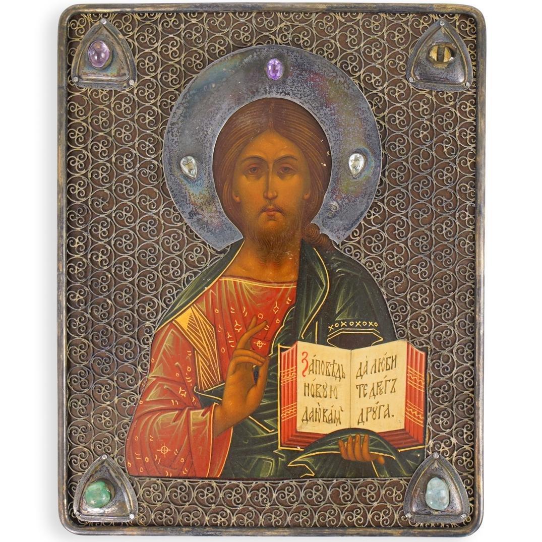 Russian Silver Religious Icon