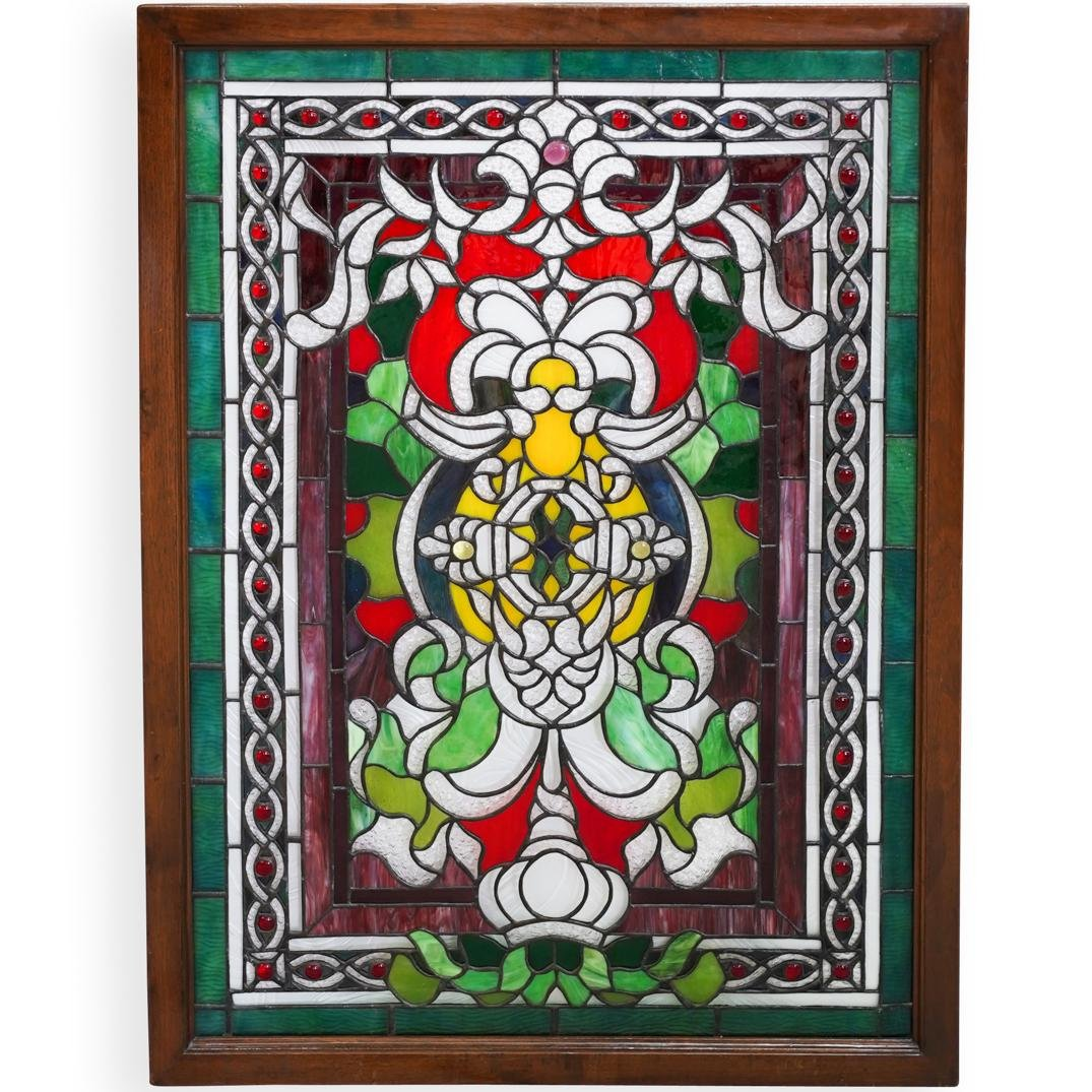 Stained Glass Framed Window Panel