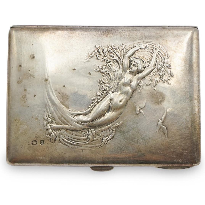 Art Nouveau Sterling Compact Case