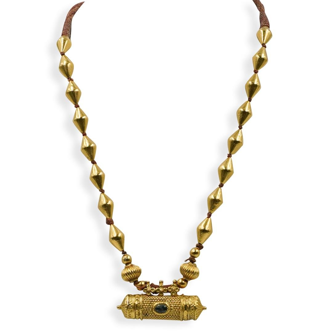 22K Yellow Gold Scroll Necklace