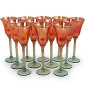(12 Pc) Rick Strini Iridescent Wine Glasses