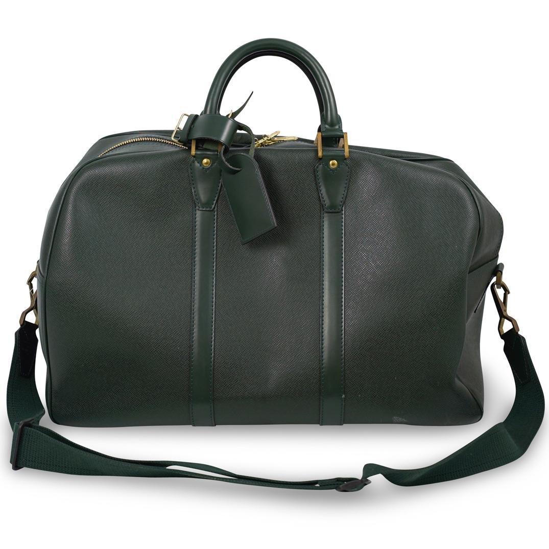 Louis Vuitton Green Epi Keepall Travel Bag