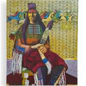 Stan Natchez (American, b. 1954) Mixed Media on Canvas