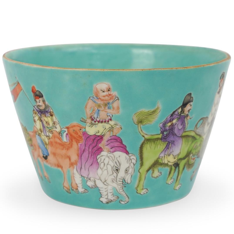 Chinese Qing Turquoise Glaze Porcelain Bowl