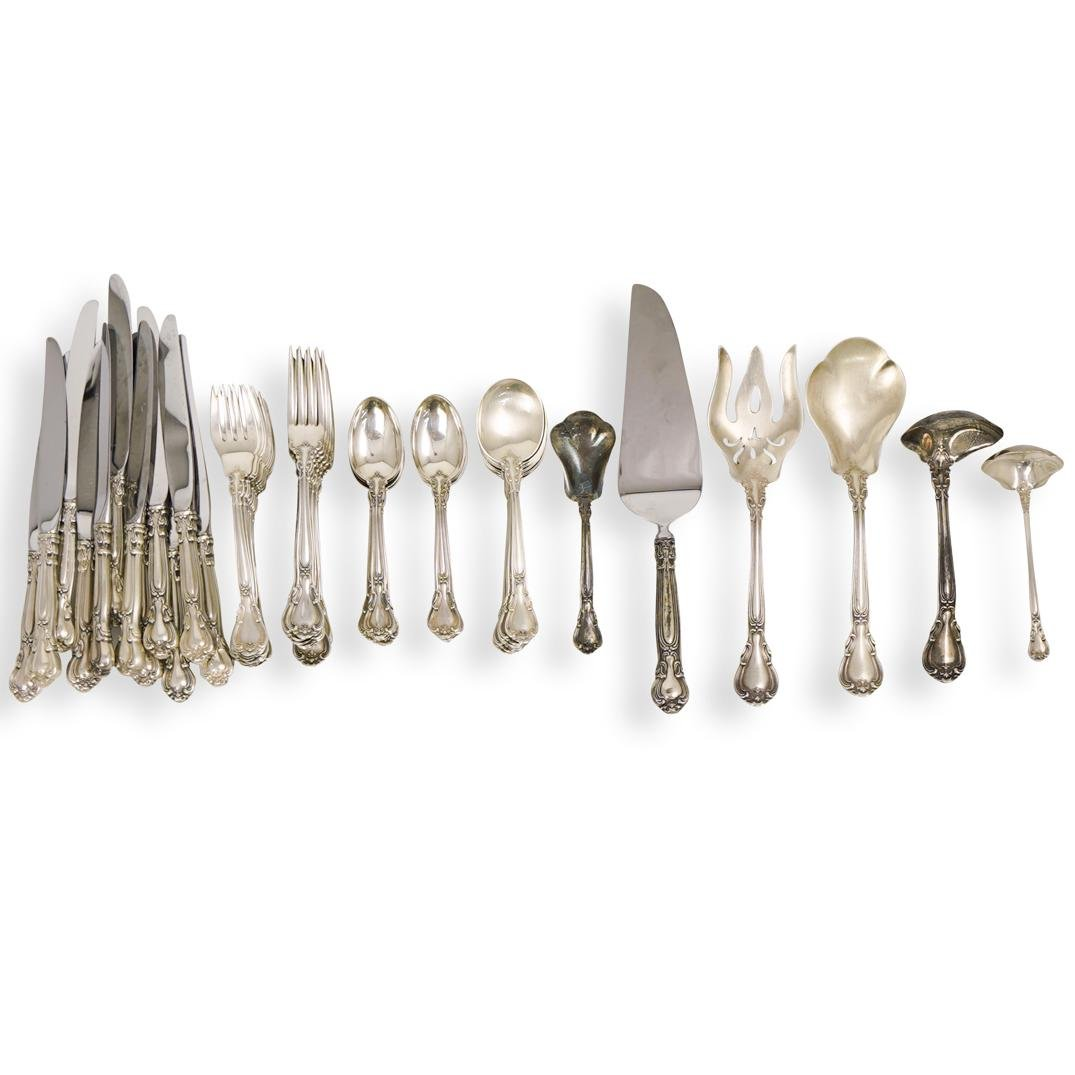 "(74 Pc) Gorham ""Chantilly"" Sterling Flatware Set"