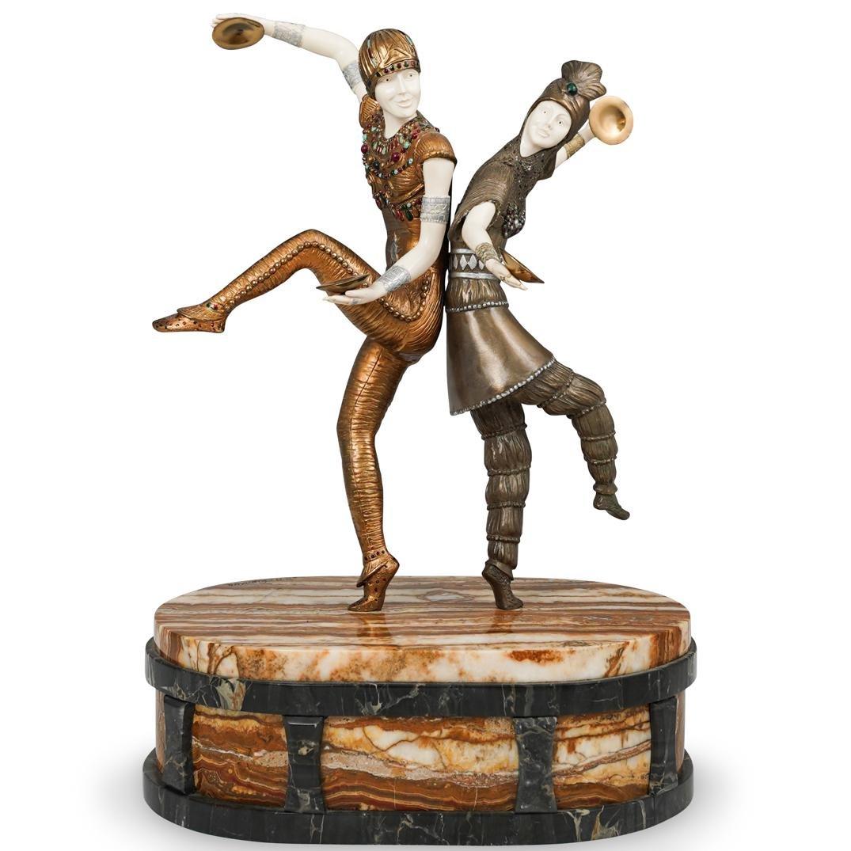 "Demetre Chiparus (Romanian,1886-1947) ""Russian Dancers"""