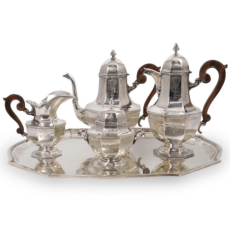 (5 Pc) Mario Buccellati Sterling Silver Tea Service