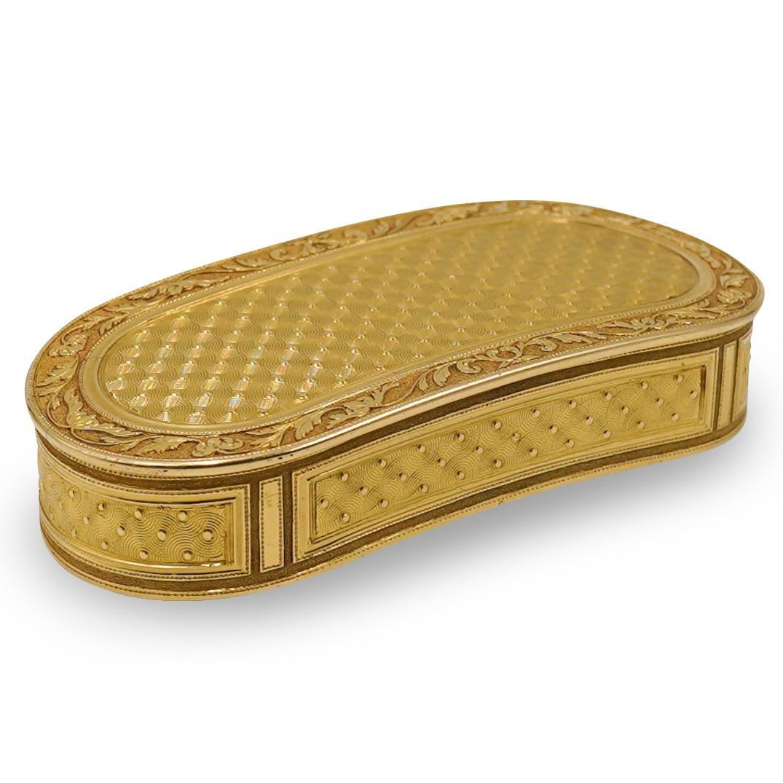 English 18k Gold Vanity Box