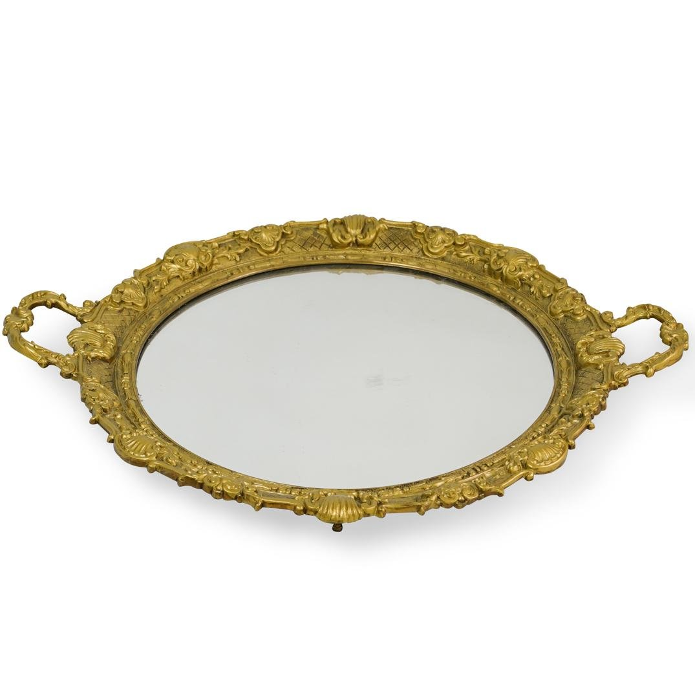 Gilt Bronze Mirrored Tray