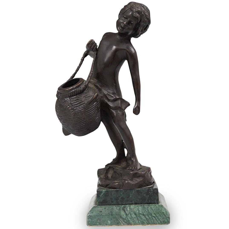 Bronze Sculpture of a Young Boy