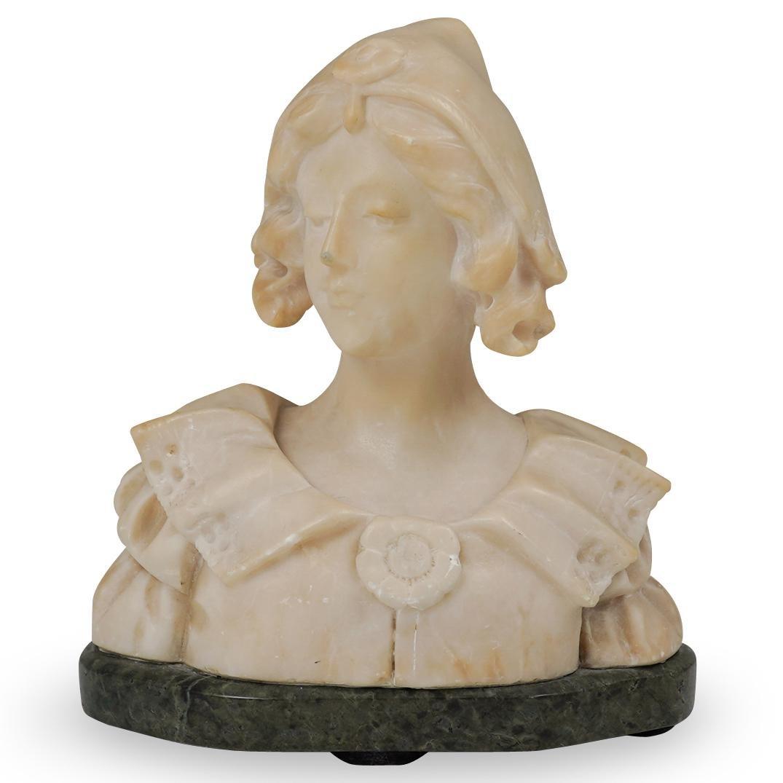 Marble Figural Bust Sculpture