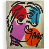 Peter Keil German b 1942 Acrylic on Canvas