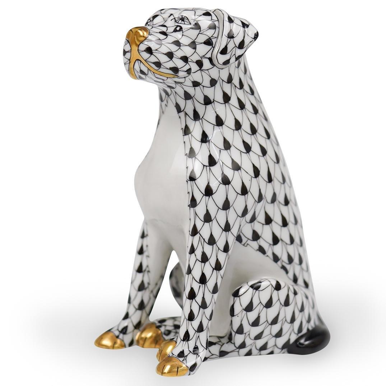 Herend Fishnet Labrador Figurine
