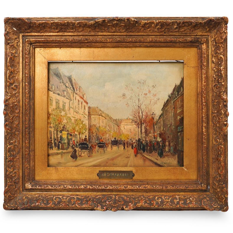 Jean Francois Raffaelli (French. 1850 - 1924) Oil