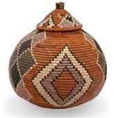 African Zulu Wicker Basket