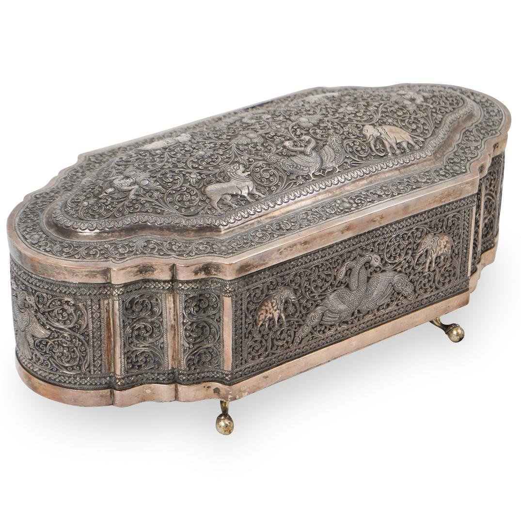 Indian Sterling Silver Footed Box