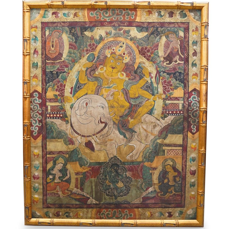 Framed Tibetan Thangka