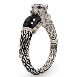 Cartier Panthere 18k Gold and Diamond Bracelet