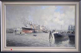 Drulman Johannes Dutch 19121977 Oil Painting