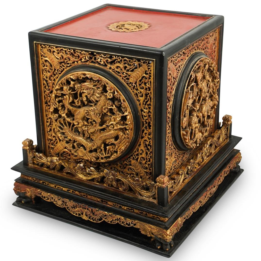 Antique Chinese Lacquer Altar Box