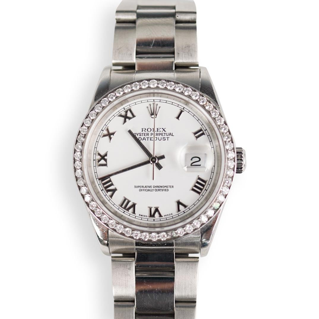 Rolex Datejust Diamond and Stainless Watch