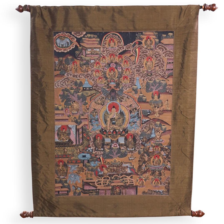 Tibet Thangka Hand Painted Cloth