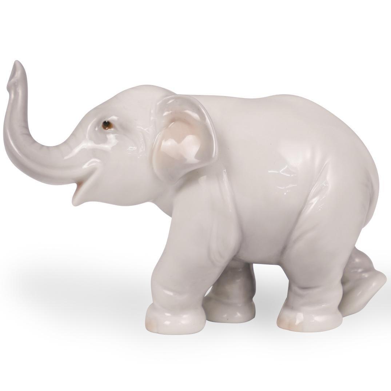 Lladro Porcelain Elephant