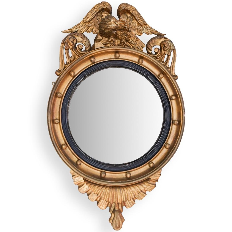 19th Cent. Federal Eagle Giltwood Girandole Mirror