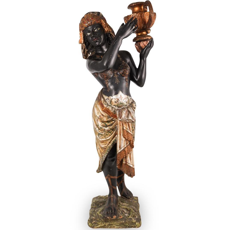19th Cent. Blackamoor Wooden Sculpture