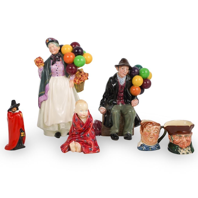 (6 Pc) Royal Doulton Porcelain Figurine Lot