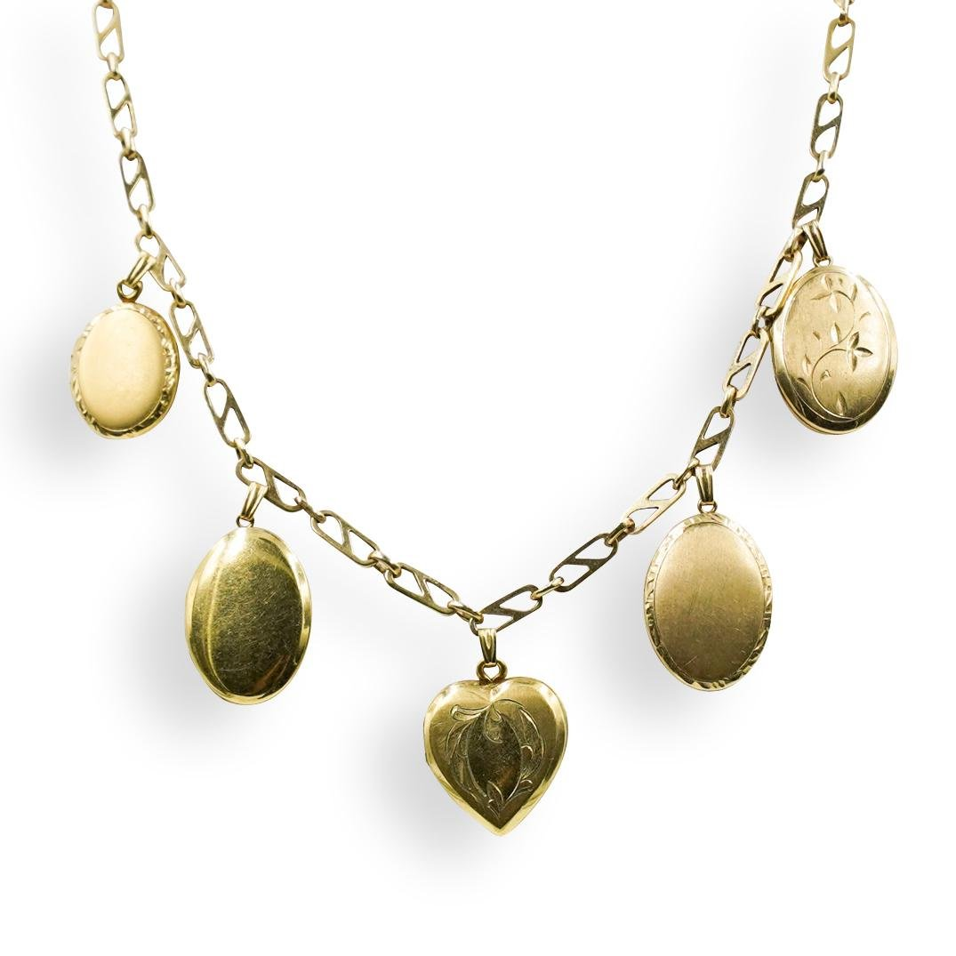 14k Gold Picture Locket Necklace