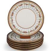 """(6 Pc) Limoges """"Guerin & Co"""" Porcelain Plates"""
