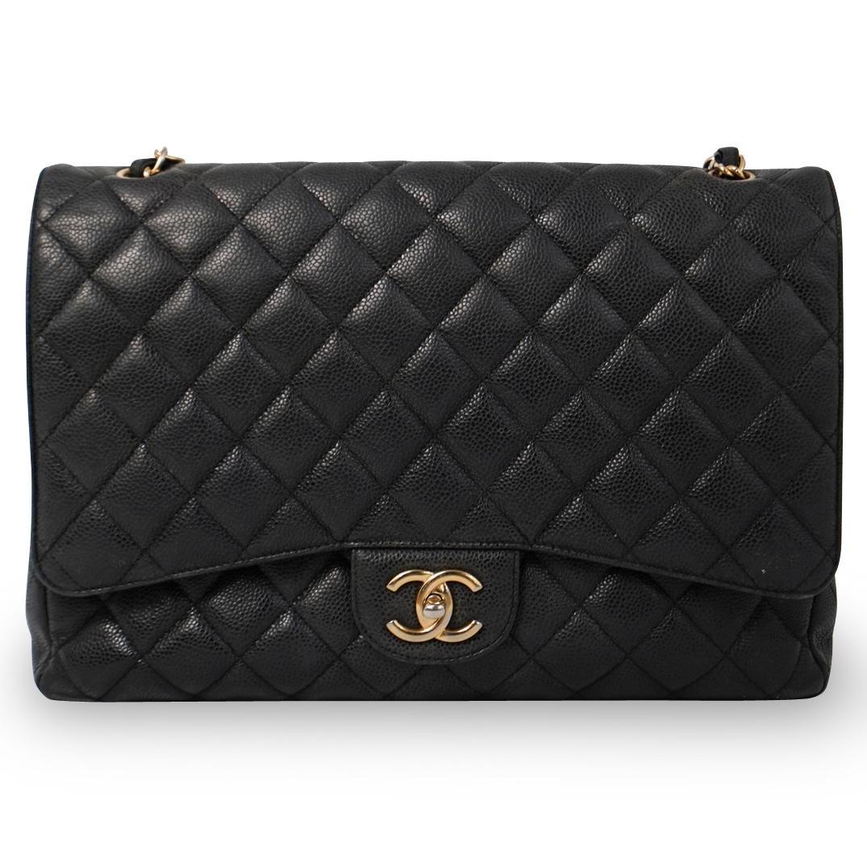 Chanel Black Caviar Leather Flap Bag