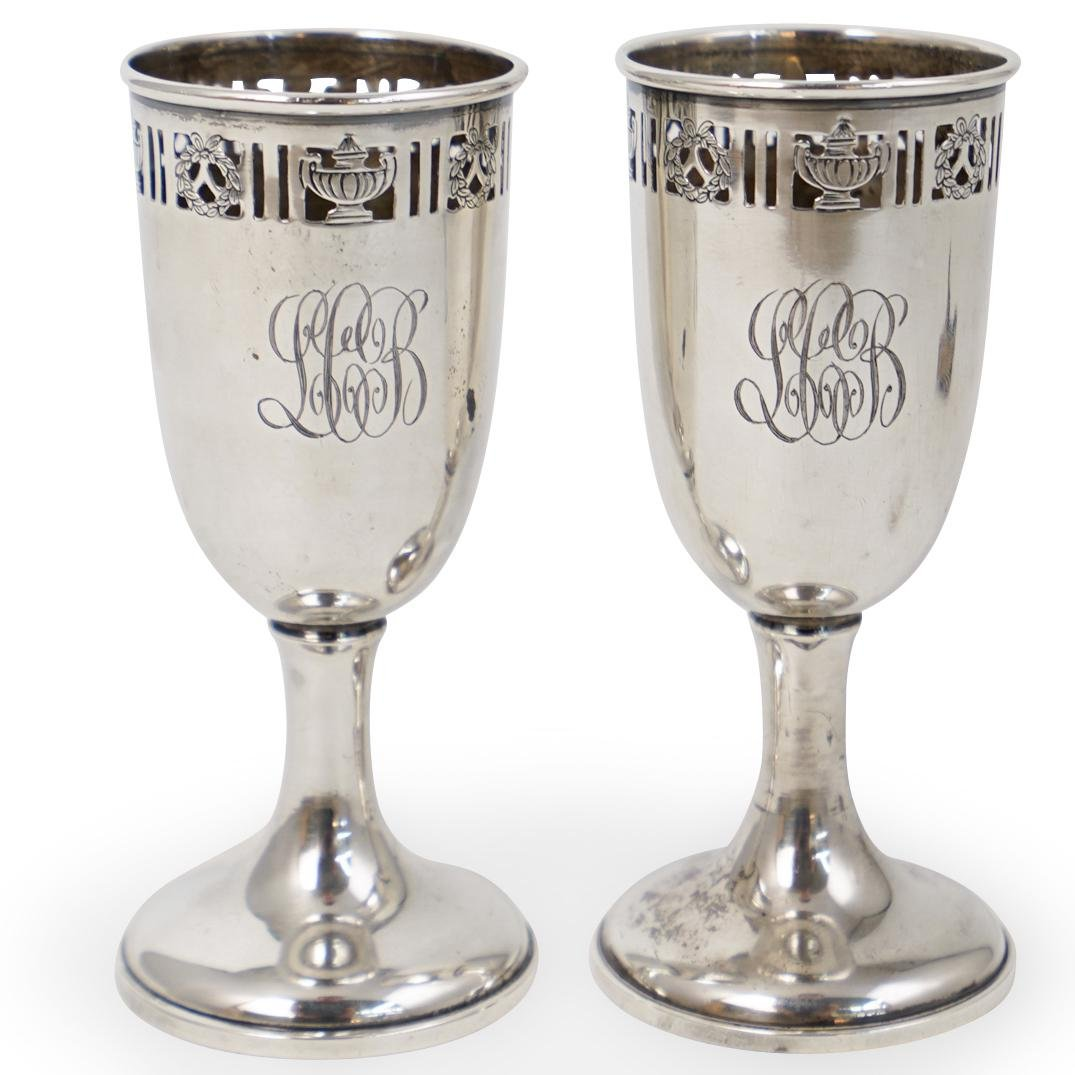 (2 Pc) Sterling Silver Kiddush Cups