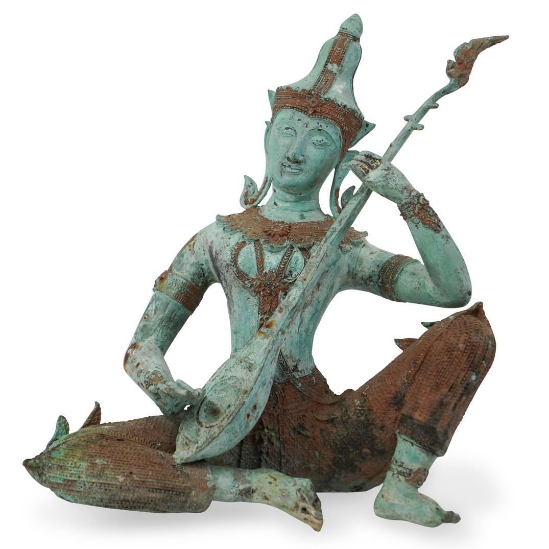 Antique Bronze Thai Figure