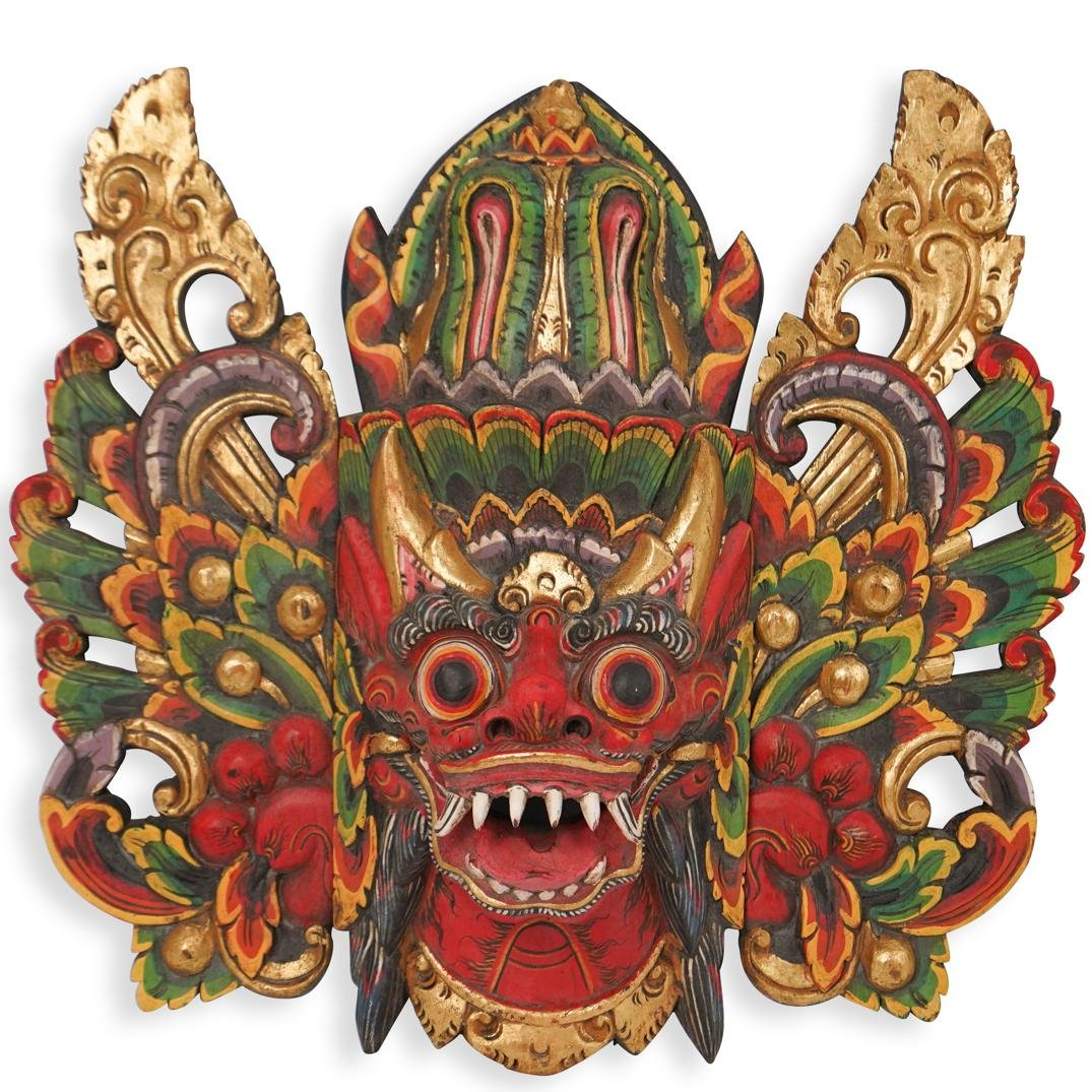 Polychrome Carved Indonesian Mask