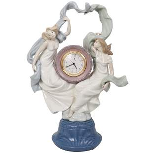 "Lladro "" Allegory of Time"" Porcelain Clock"