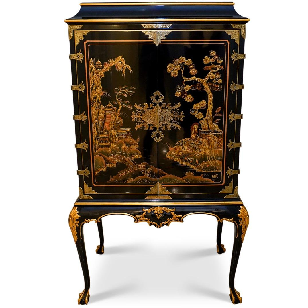 Karges Queen Anne Chinoiserie Cabinet
