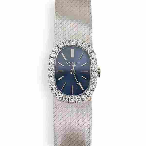 Vintage Patek Philippe 18K & Diamond Ellipse Lady Watch