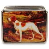Sterling Silver Enamel Pill Box