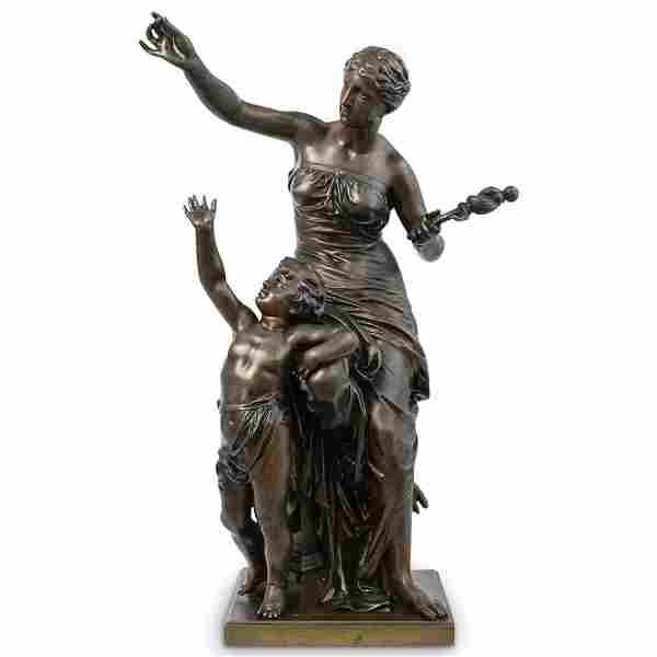 Jean-Jules Cambos (French, 1828–1917) Bronze Statue